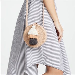 Anthropologie Straw Crossbody